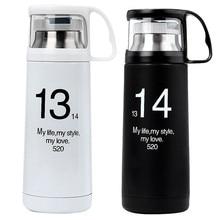 Nueva Moda de Una Vida Un Amor 1314 Amante Thermoes Frasco Vacío De Acero Inoxidable Taza de Viaje Portátil Taza Botella de Agua Al Aire Libre