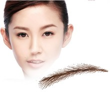 2017 Rushed Sobrancelha Eyebrows Factory  /eyebrow tattoo human hair fake eyebrow ,wig eye brows Free shipping