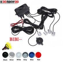 Koorinwoo автомобиля сенсоры парковочные Parktronics 4 черный/серебристый/белый/Gley 22 мм обратный резервный радары звук зуммер звуковой сигнал Jalousie