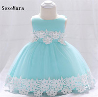 Top Quality Lace baby girls dress christening gown cake dresses for party occasion kids 1 year baby girl birthday dress