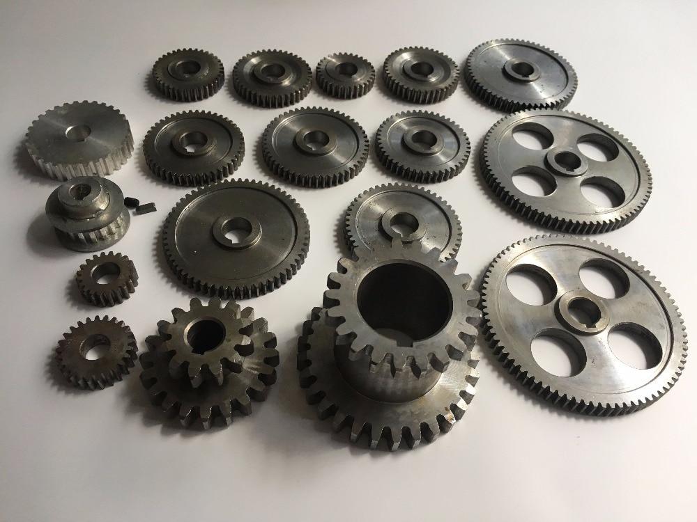 Freeshipping 18pcs set mini lathe gears Metal Cutting Machine gears lathe gears