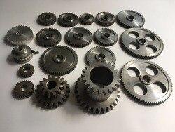 Envío gratuito 18 unids/set mini engranajes de torno, engranajes de máquina de corte de Metal, engranajes de torno