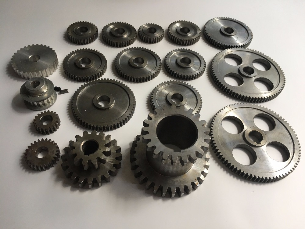 Freeshipping 18pcs/set mini lathe gears , Metal Cutting Machine gears , lathe gears