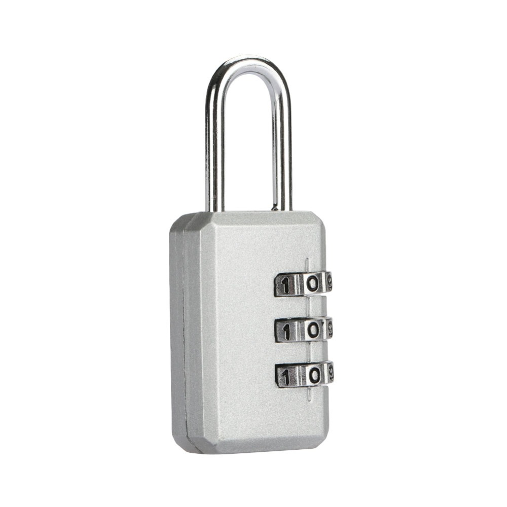 Mini 3 Digit Code Padlock Suitcase Password Lock Portable Combination Lock Resettable Security Code Number Lock long 4 digit number code dial combination padlock security safety lock
