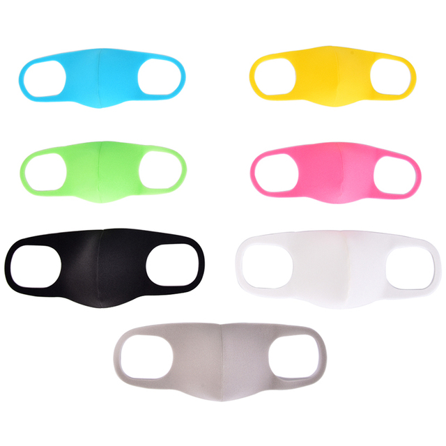 3pcs Mouth Mask Black Cotton Blend Anti Dust And Nose Breathable Face Mouth Mask Fashion Reusable Masks For Man Woman 3
