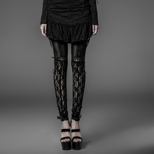Punk Rave Gothic style black sexy lace special design Leggings K-177