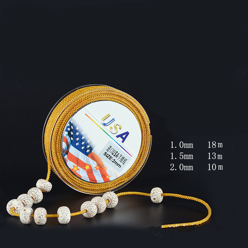 1/1.5/<font><b>2mm</b></font> Non-<font><b>elastic</b></font> Thread Nylon <font><b>Cord</b></font> for Beading Bodhi Buddha Beads Bracelet Necklace Making DIY Jewelry Black String Rope image