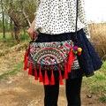 Бесплатная Доставка! вышивка мешок вышитые кисточкой сумка одно плечо кросс-тело женская сумочка