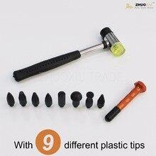 Кузова paintless dent repair pdr инструменты нажмите вниз комплект с молотка (TAP-10)