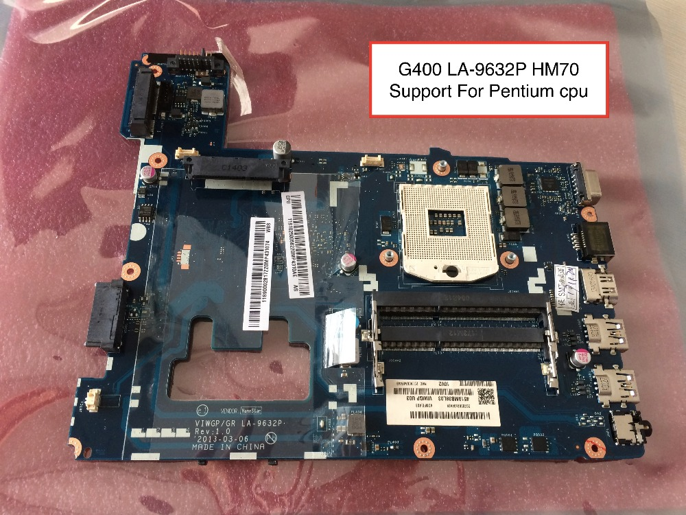 Free Shipping New VIWGP/GR LA-9632P card For Lenovo G400 Notebook Motherboard ( HM70 For Pentium Cpu only ) купить недорого в Москве