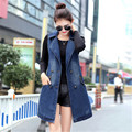 Fashion Women Denim Vest Brand Slim Fit Long Sleeveless Spring Jacket Chaquetas Mujer Outwear Abrigos Veste Femme Plus Size 3XL