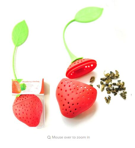 DealsOcean 2Pcs Silicone Strawberry Tea Infuser Loose Leaf Tea Strainer Herbal Spice Infuser Filter Tools
