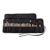 Professional 32Pcs Makeup Brush Set Full Application Foundation Concealer Powder Blush Lip Eye Eyeshadow Brushes + Black Bag