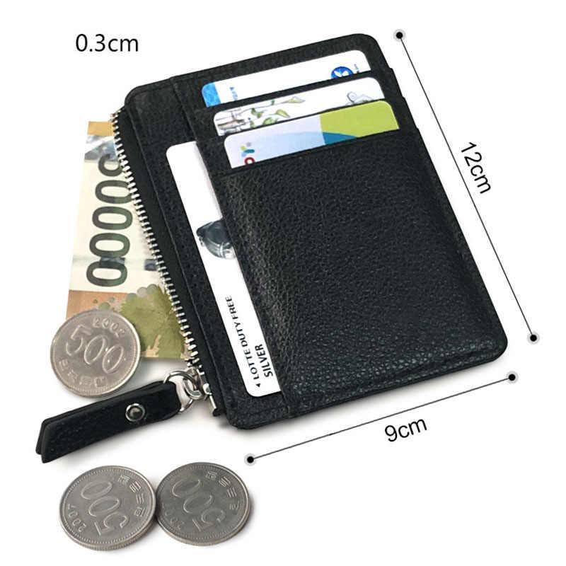 KUDIAN BEAR, cartera Simple Vintage para hombre, tarjetero de negocios marca masculina, Mini billeteras, monedero para hombre BID258 PM49
