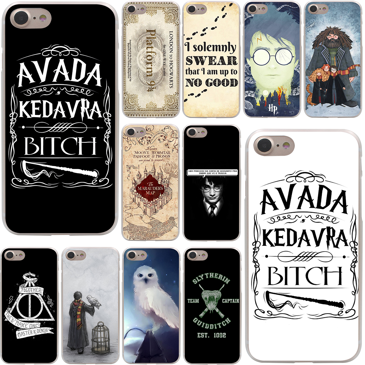 always Harry Potter Deathly Hallows Hard Case Transparent for iPhone 7 7 Plus 6 6s Plus 5 5S SE 5C 4 4S