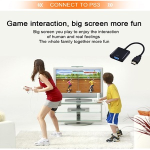 Image 4 - Tishnic HD 1080P adaptador de HDMI a VGA, convertidor de Audio de Cable macho a hembra, Digital a analógica, HDMI, VGA, adaptador de Cable de Audio para TV