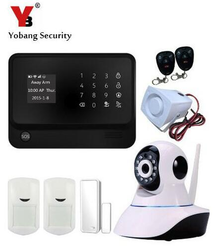 Yobang Security Wifi GSM Home Security Alarm System with IP Camera Digital Alarm with Wireless Intelligent PIR Motion Wifi alarm globo gurado 49333