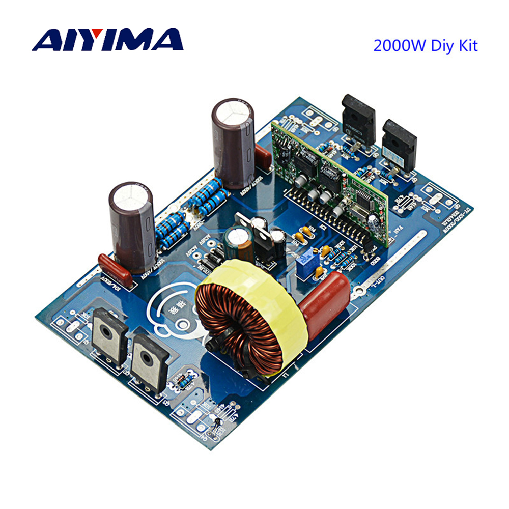 Aiyima Updates 2000W Pure Sine Wave Inverter Power Board Post Sine Wave Amplifier Board DIY Kits цена