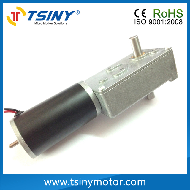 Waterproof 12v 24volt dc electric worm motor with double for Waterproof dc motor 12v