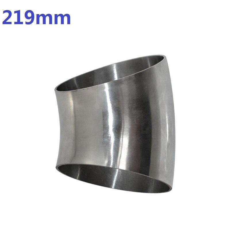 OD219mm raccord de tuyau de coude de soudure sanitaire de haute qualité 45 degrés en acier inoxydable SUS SS304
