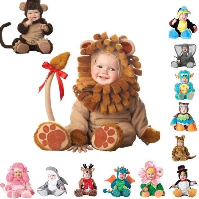 Top Quality Baby Boys Girls Halloween Monkey Dinosaur Costume Romper Kids Clothing Set Toddler Co-splay Triceratops