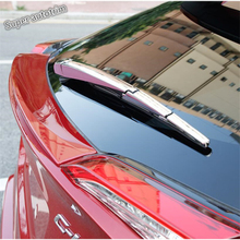 Lapetus Rear Tail Window Windscre Frame Protection Kit Cover Trim ABS Fit For Toyota C-HR CHR 2016 2017 2018 2019 Bright Chrome for toyota chr c hr 2017 2018 suv hatchback lower front hood grill cover trim abs chrome exterior only fit asia model