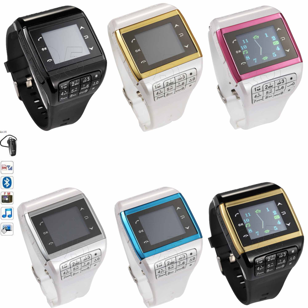 2016 Q 05 GSM Bluetooth Smart Watch Mobile Phone Quad Band with 1 33 Touch Screen