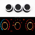 3PCS/LOT AC air condition knob for Hyundai Accent Elantra Heater control switch Sticker accessories
