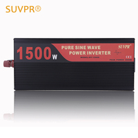 SUVPR 1500W Pure Sine Wave Car Power Inverter 24V 12V Dc To Ac 220V Auto Voltage