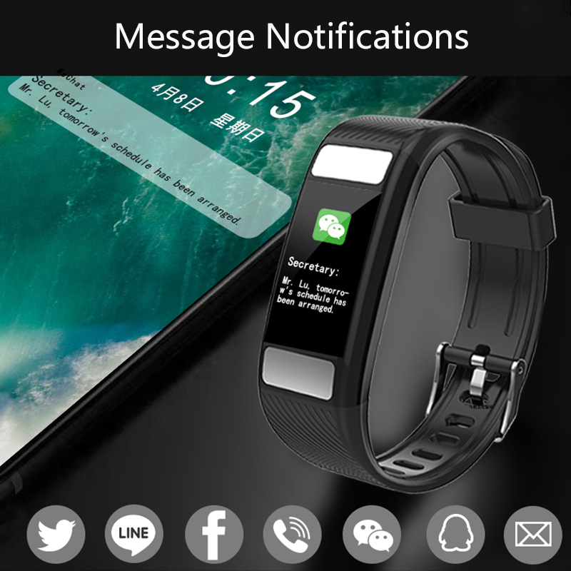 New Smart Band Body Fat Detection Fitness Tracker Smart Wristband Heart Rate Sleep Monitor Fitness Bracelet For Android IOS in Smart Wristbands from Consumer Electronics