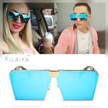 XILAIYA 2017 New Fashion Men Cool Metal Square Shape LAMBDA Sunglasses Brand Design Sun Glasses Oculos De Sol Masculino 05028