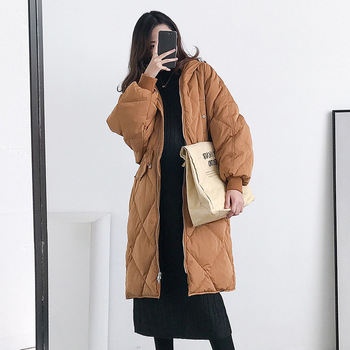 Maternity Women Winter Mid-long Hooded Duck Fur Coat Pregnant New Moms Fashion Embrossing Thick Warm Outdoor Windbreaker Jackets