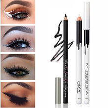 Merk White & Black Eyeliner Potlood Waterdicht Gemakkelijk te Dragen Eye Liner Pen Ogen Make-Up Countour Liner Cosmetica tool(China)