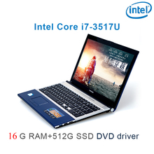 """P8-27 black 16G RAM 512G SSD i7 3517u 15.6 gaming laptop DVD driver keyboard and OS language available for choose"""""""