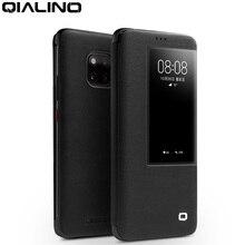 QIALINO יוקרה אמיתי עור Flip Case עבור Huawei Mate 20 פרו אופנתי בעבודת יד Ultra Slim חכם צפה טלפון כיסוי עבור mate 20/X