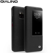 Чехол книжка QIALINO из натуральной кожи для Huawei Mate 20 Pro, Стильный Ультратонкий чехол для смартфона ручной работы для Mate 20/X