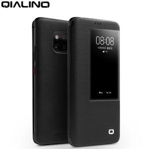 Image 1 - Чехол книжка QIALINO из натуральной кожи для Huawei Mate 20 Pro, Стильный Ультратонкий чехол для смартфона ручной работы для Mate 20/X