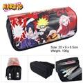 Naruto anime Naruto Sasuke Sakura doble bolsa monedero de la cartera bolsa de la cremallera de gran capacidad