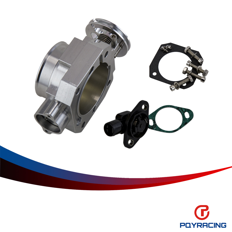 PQY RACING- 70MM THROTTLE BODY+TPS THROTTLE BODY POSITION SENSOR FOR HONDA B16 B18 D16 F22 B20 D/B/H/F EF EG EK DC2 H22 D15 D16  цены