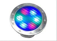 Acero inoxidable IP68 12 v 6 w rgb led bajo agua de mar lámpara de la iluminación de la piscina life > 50,000 hrs CE & ROHS max. instalar en profundidad de 20 m