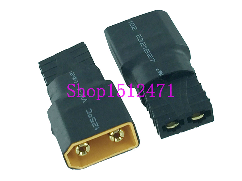 1PCE XT90 Male To Traxxas TRX Female No Wire Adapter Fr RC Power Supply