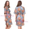 Moda Flor de la Impresión del Nuevo del Traje Sexy Camisón Para Las Mujeres Chica Kimono Moda Novia de dama de Honor de Boda Trajes de la Familia Albornoz