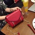 Lovely Women Leather Messenger Bag Metal Handbag Ladies Small Crossbody Bag Women Famous Brands Designer Shoulder Bags Chain FI