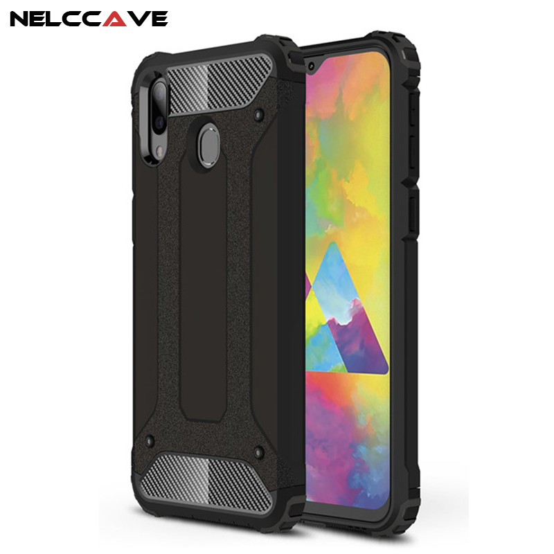 Rugged Armor Phone Case For Samsung Galaxy M20 M205F M10 M105F M 20 10 TPU+PC Shockproof Hybrid Armor Full Protection Back Cover