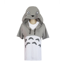 brdwn Totoro Unisex Cotton Short-Sleeved cosplay Hoodie Casual Coat Tops Cool