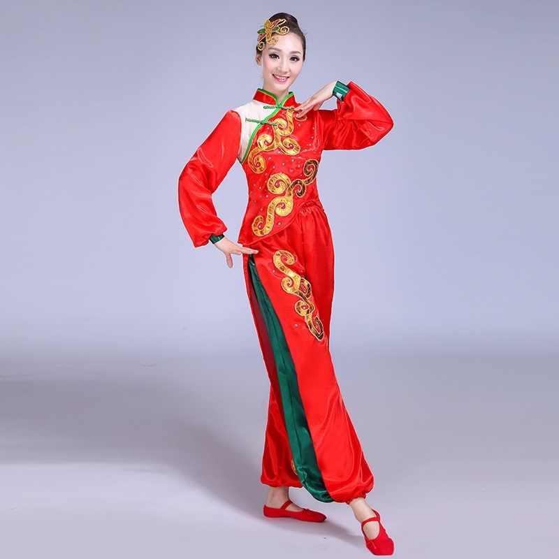 中国の伝統的な民俗とエスニックダンス服全国ダンスファン yongo 古代中国の民族舞踊服 DD1878