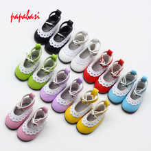 1 pair 5cm PU Leather Shoes For BJD Doll Fashion Mini Toy Lace Canvas Shoes 1