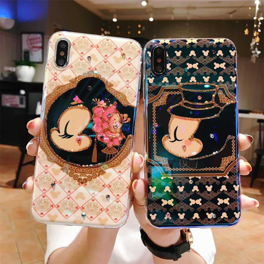Funny Minnie <font><b>Mickey</b></font> <font><b>coque</b></font> Blu-ray silicon Soft TPU Case for <font><b>iPhone</b></font> X 7 8 Plus <font><b>6s</b></font> 6plus Silicone XS MAX XR mobile phone case image