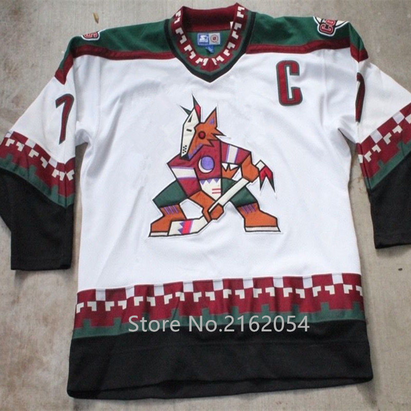 Phoenix Coyotes ##7 Keith Tkachuk MENS Hockey Jersey Embroidery Stitched Customize any number and name Jerseys
