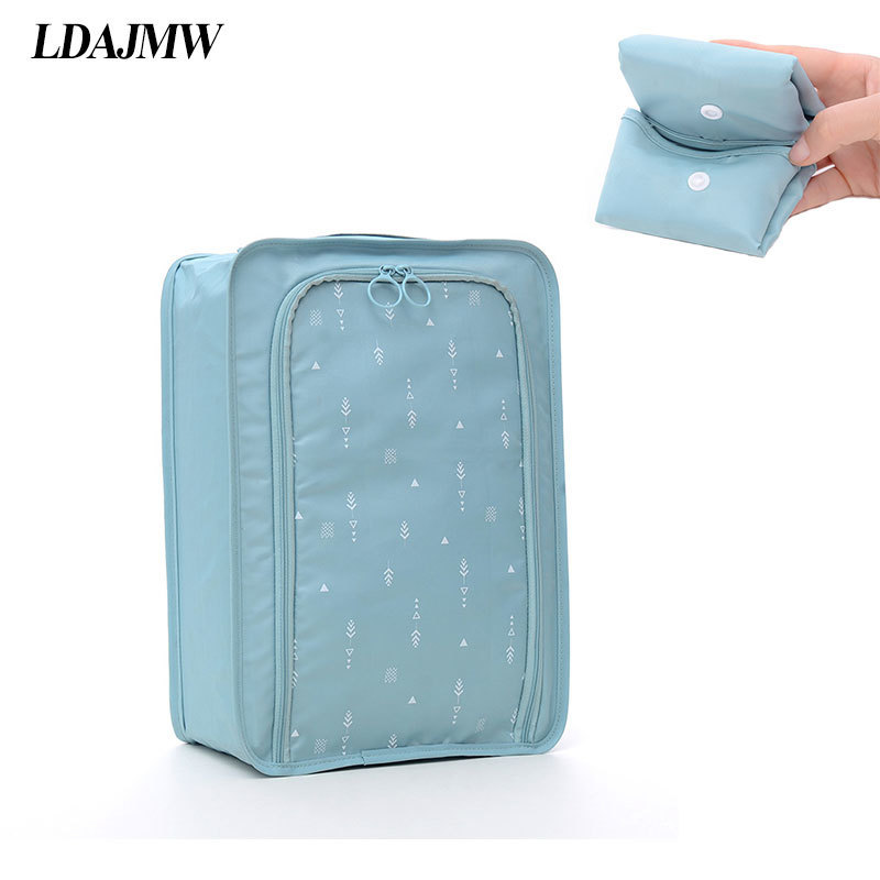 LDAJMW Three Layers Waterproof Sports Shoe Organizer Travel Nylon Shoe Pouch Cosmetics Storage Bag Tote Box Case Organizers